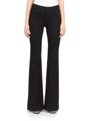 Stella Mccartney Flared Denim Trousers Blue Black