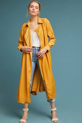 Burning Torch Classic Trench Coat Dark Yellow