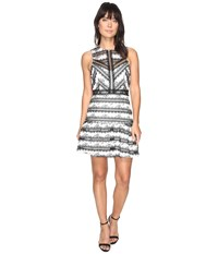 Adelyn Rae Nola Woven Fit And Flare Dress Black White Women's Dress