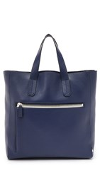 Uri Minkoff Pebbled Leather Unlined Tote Navy