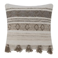 Amara Ethnic Tassel Pillow Natural Brown 50X50cm
