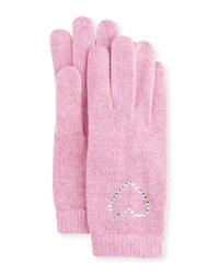 Portolano Crystal Cuff Wool Blend Gloves Rosebloom