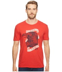 Lucky Brand Born Free Graphic Tee Pompeian Red Men's T Shirt Beige