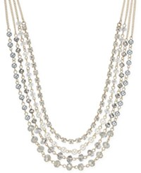 Inc International Concepts Crystal Bead Imitation Pearl Gold Tone Multi Row Necklace Only At Macy's