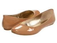 Kenneth Cole Reaction Slip On By Camel Patent Women's Flat Shoes Tan