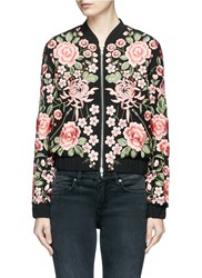 Needle And Thread Beaded Floral Embroidered Bomber Jacket Multi Colour