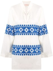Tory Burch Embroidered Beach Tunic Top White