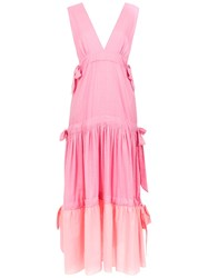Clube Bossa Panelled Bougen Dress Pink And Purple