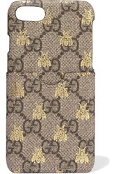 Gucci Printed Coated Canvas Iphone 7 Case Beige
