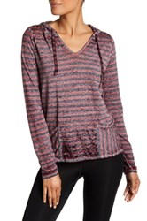 Threads For Thought Mariha Striped Hoodie Purple
