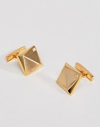 Ted Baker Baile Crystal Cufflinks In Gold