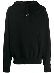 Stella Mccartney Lettered Logo Print Hoodie Black