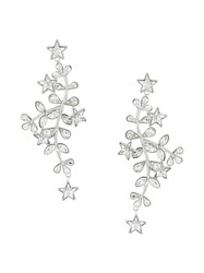 Dsquared2 Crystal Vine And Star Earrings Tin Crystal Brass Metallic