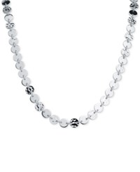 Nine West Silver Tone Multi Disc Choker Necklace