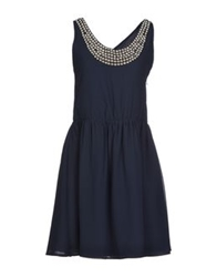 Duck Farm Short Dresses Dark Blue