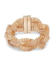 Saks Fifth Avenue Braided Mesh Bracelet Gold