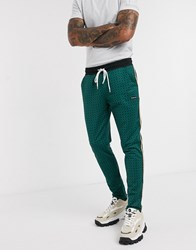 Good For Nothing Geo Hounds Trouser With Satin Taping In Green