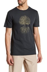 United By Blue Crew Neck Short Sleeve Front Graphic Print Tee Gray