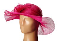 Scala Sinamay With Large Bow Fuchsia Headband Pink