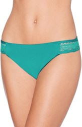 Laundry By Shelli Segal Scallop Hipster Bikini Bottoms Turquoise Stone