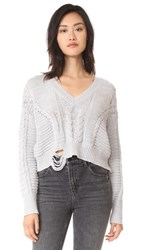 Wildfox Couture Nancy Sweater Heather Gray