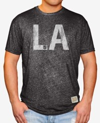 Retro Brand Men's Los Angeles Kings Mock Twist City Initial T Shirt Black Heather