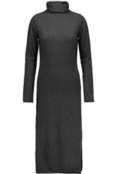 Line Claudia Merino Wool And Cashmere Blend Turtleneck Sweater Dress Charcoal