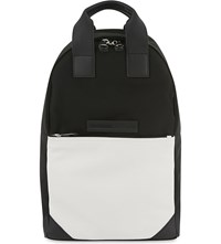 Mcq By Alexander Mcqueen Calf Leather Tote Backpack Black Off White