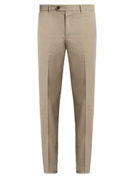 Brunello Cucinelli Casual Cotton Chino Trousers Beige
