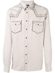 Laneus Metallic Embellished Shirt Nude Neutrals