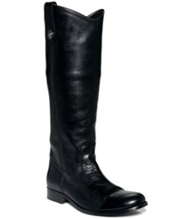Frye Women's Melissa Button Wide Calf Boots Women's Shoes Black