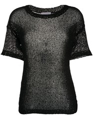 Snobby Sheep Sheer Sequin Embellished Top Black