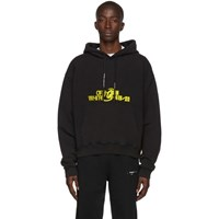 Off White Black And Yellow Halftone Over Hoodie