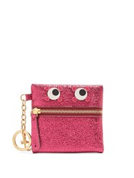 Anya Hindmarch Eyes Crinkled Leather Coin Purse Pink