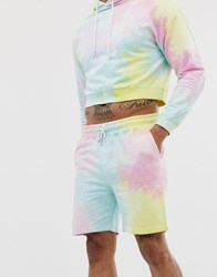 Another Influence Tie Dye Sweat Short Co Multi