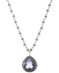 Lonna And Lilly Teardrop Stone Pendant Necklace Gold Purple