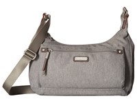 Baggallini New Classic Out And About Bagg With Rfid Phone Wristlet Stone Bags White