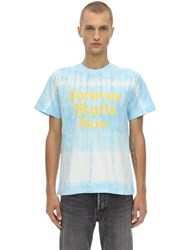 Nasaseasons Forever Starts Now Tie Dyed T Shirt Blue