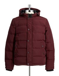 Guess Quilted Puffer Coat Red