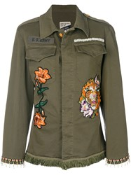 History Repeats Embroidered Fitted Jacket Green