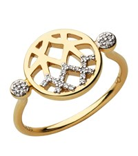 Links Of London Timeless Gold Plated Ring Female
