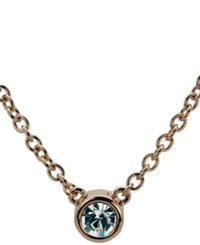 T Tahari Necklace Bezel Set Crystal Pendant