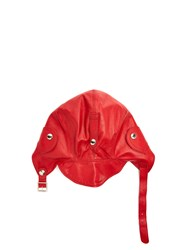 Connolly Leather Driving Helmet Red