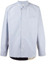 Visvim Loose Fit Button Down Shirt Blue