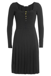 Marco De Vincenzo Dress With Pleated Skirt Black