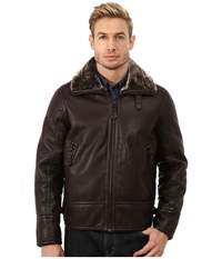 Marc New York Kane Faux Shearling Aviator Jacket Brown Men's Coat