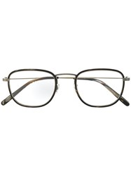 Oliver Peoples Square Frame Glasses Brown