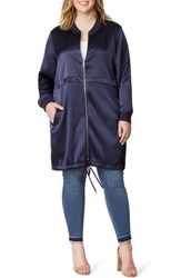 Rebel Wilson X Angels Plus Size Longline Anorak Jacket Parisian Night