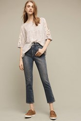 Anthropologie Pilcro Superscript Ultra High Rise Straight Ankle Jeans Denim Medium Blue