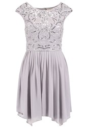 Lace And Beads Grace Cocktail Dress Party Dress Grey Light Grey
